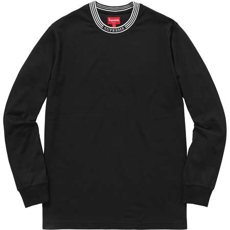 Rib Logo Stripe L/S Tee (Black)