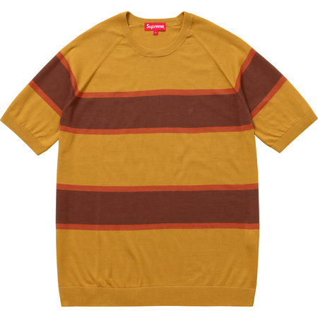 Knit Stripe S/S Raglan Top (Mustard)