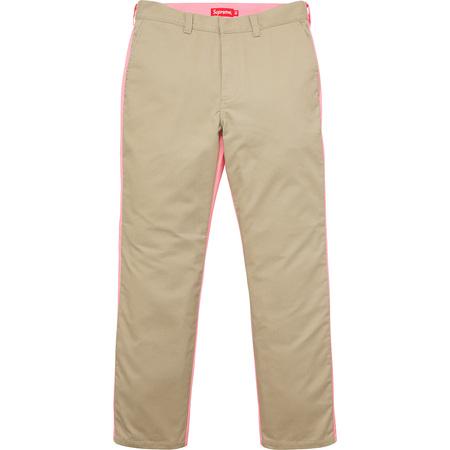 Split Work Pant (Khaki/Pink)
