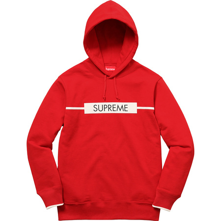 Chest Twill Tape Hooded Sweatshirt (Red)