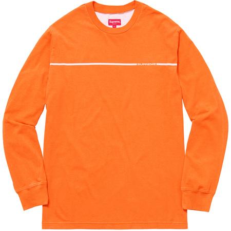 Chest Stripe L/S Top (Orange)