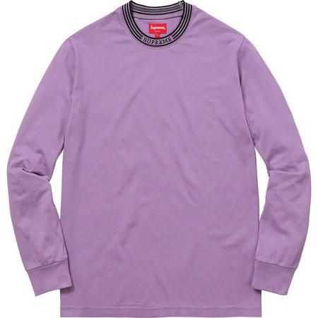 Rib Logo Stripe L/S Tee (Purple)