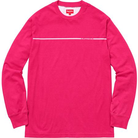 Chest Stripe L/S Top (Bright Pink)