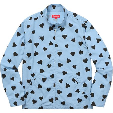 Hearts Harrington Jacket (Light Blue)