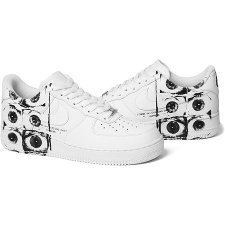 Supreme®/Comme des Garçons SHIRT®/Nike Air Force 1 Low (White)