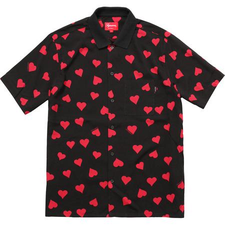 Hearts Rayon Shirt (Black)