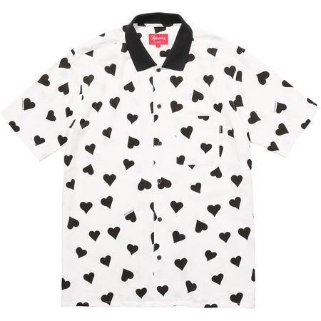 Hearts Rayon Shirt (White)