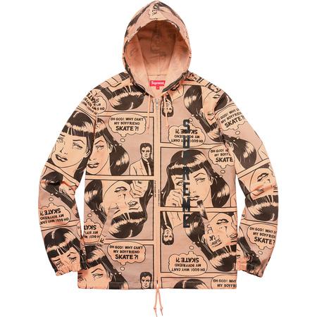 Supreme®/Thrasher® Boyfriend Hooded Zip Up Jacket (Pale Orange)