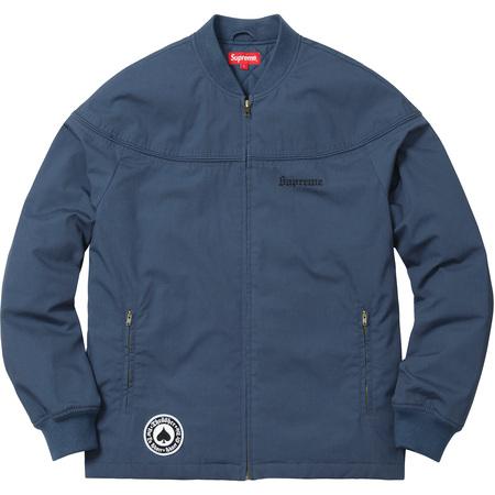 Supreme®/Thrasher® Poplin Crew Jacket (Light Navy)