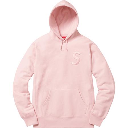 Tonal S Logo Hooded Sweatshirt (Pale Pink)
