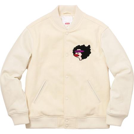 Gonz Ramm Varsity Jacket (Off White)