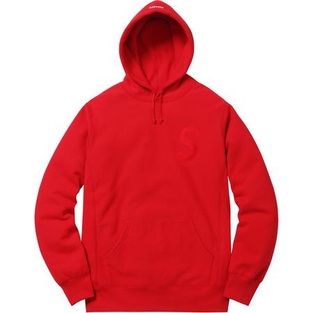 Tonal S Logo Hooded Sweatshirt (Red)