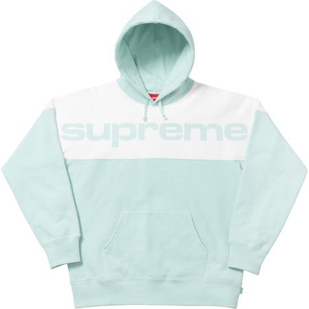 Blocked Hooded Sweatshirt (Ice Blue)