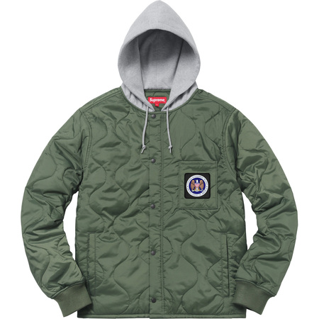 Quilted Liner Hooded Jacket (Olive Drab)