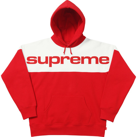 Blocked Hooded Sweatshirt (Red)