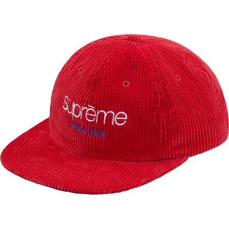 Waffle Cord Classic Logo 6-Panel (Red)