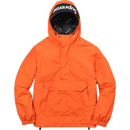 Hooded Logo Half Zip Pullover (Orange)