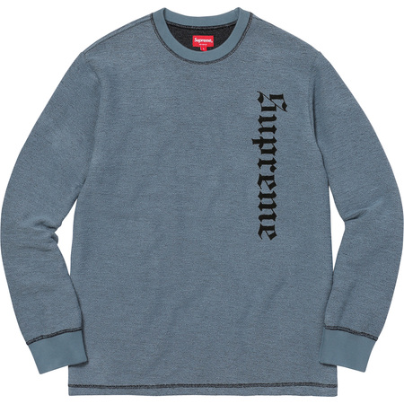 Reverse Terry L/S Top (Slate)