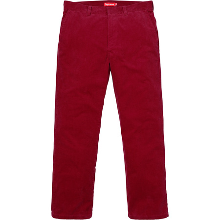 Corduroy Work Pant (Dark Red)