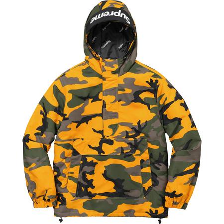 Hooded Logo Half Zip Pullover (Yellow Camo)