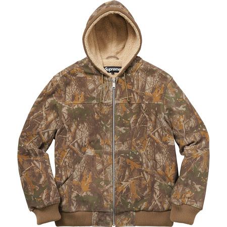 Hooded Suede Work Jacket (Tree Camo)