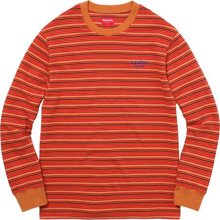 Raised Stripe L/S Top (Rust)