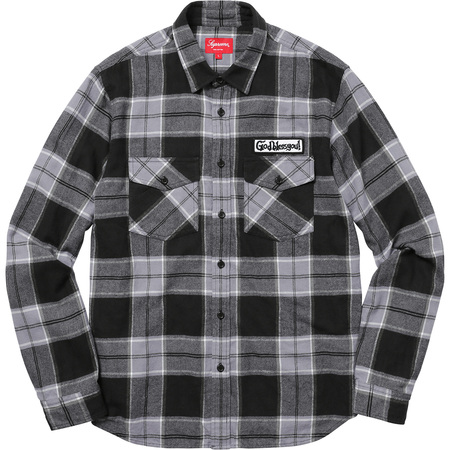God Bless Plaid Flannel Shirt (Black)