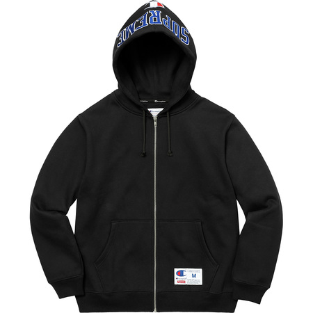Supreme®/Champion® Arc Logo Zip Up Sweat (Black)