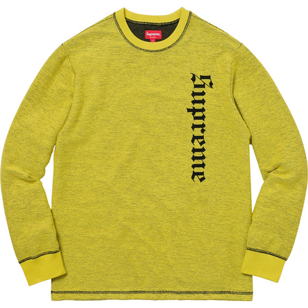 Reverse Terry L/S Top (Bright Green)
