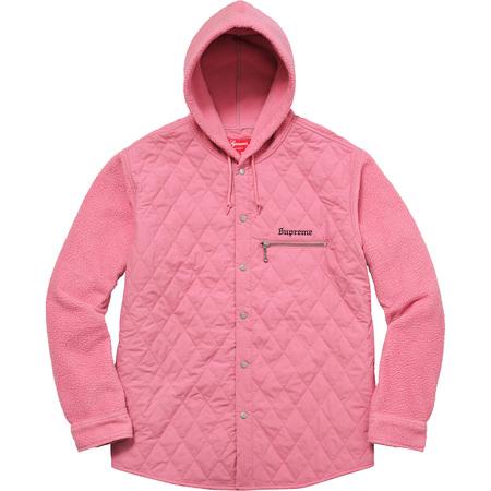 Hooded Fleece Nylon Shirt (Pink)