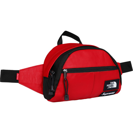 Supreme®/The North Face® Leather Roo II Lumbar Pack (Red)