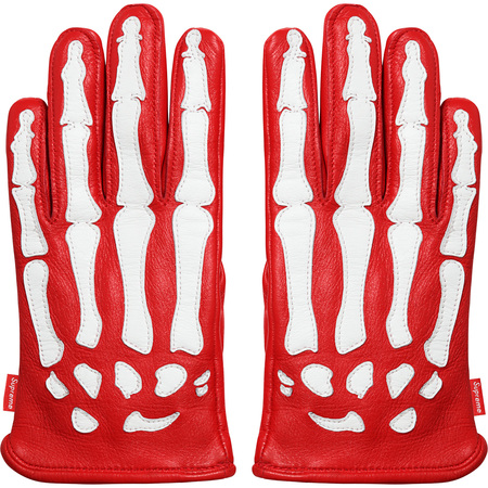 Supreme®/Vanson® Leather X-Ray Gloves (Red)