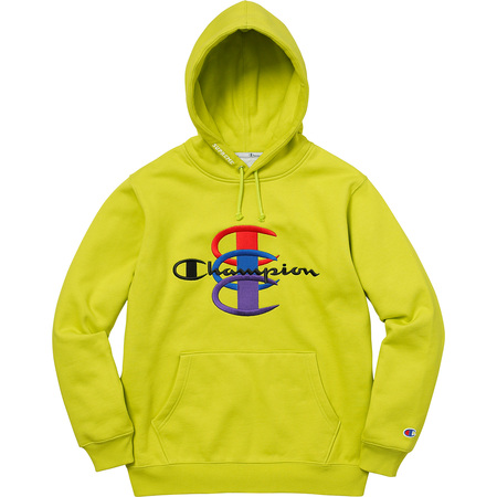 Supreme®/Champion® Stacked C Hooded Sweatshirt (Bright Green)