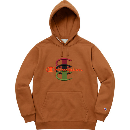 Supreme®/Champion® Stacked C Hooded Sweatshirt (Brown)
