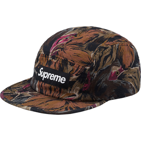 Painted Floral Camp Cap (Olive)