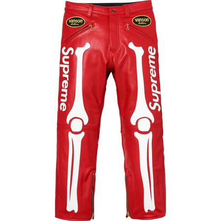 Supreme®/Vanson® Leather Bones Pant (Red)