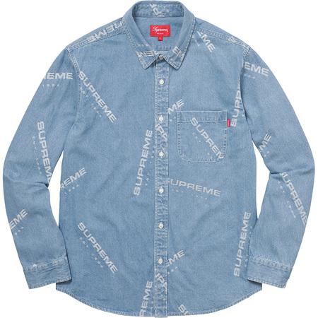Jacquard Denim Shirt (Blue)