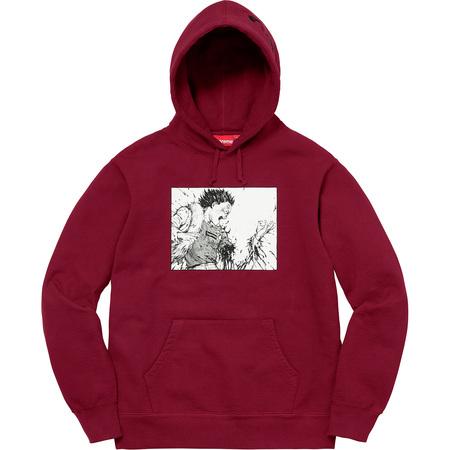 AKIRA/Supreme Arm Hooded Sweatshirt (Cardinal)