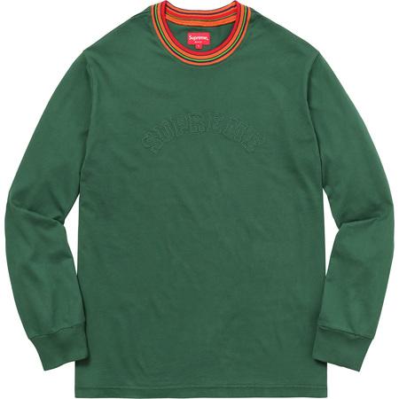 Multicolor Striped Rib L/S Top (Dark Green)