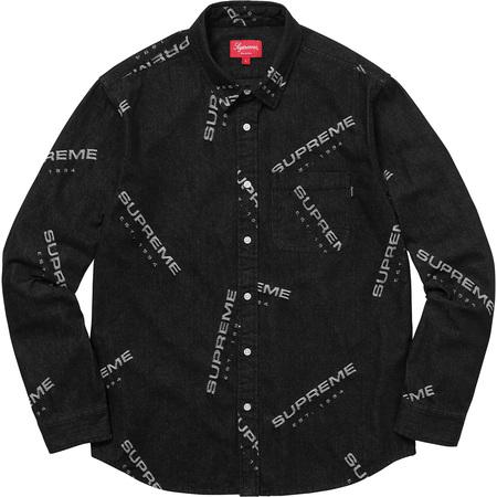 Jacquard Denim Shirt (Black)