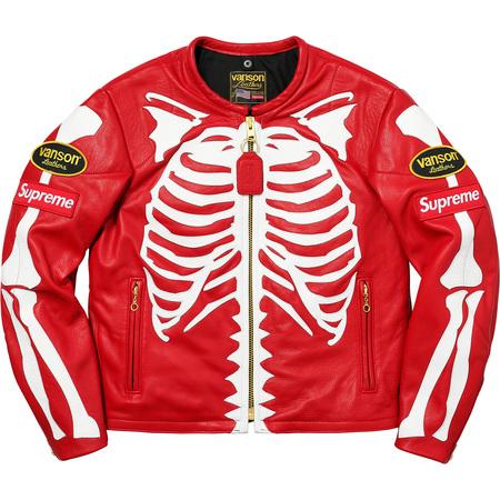 Supreme®/Vanson® Leather Bones Jacket (Red)