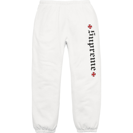 Supreme®/Independent® Fuck The Rest Sweatpant (White)