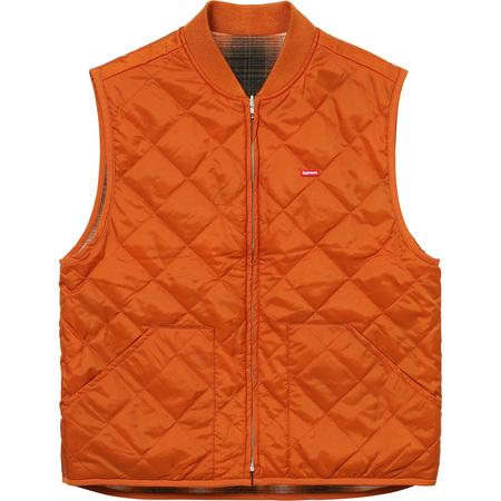 Reversible Shadow Plaid Vest (Rust)