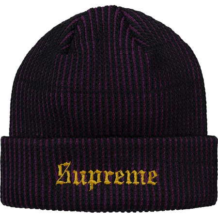 2-Tone Rib Beanie (Purple)