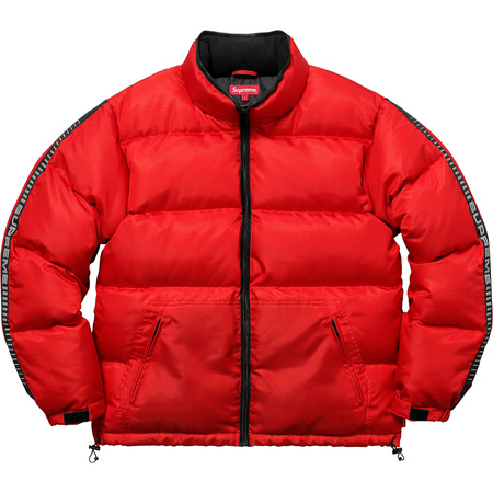 Reflective Sleeve Logo Puffy Jacket (Red)