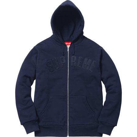 Arc Logo Thermal Zip Up Sweatshirt (Navy)