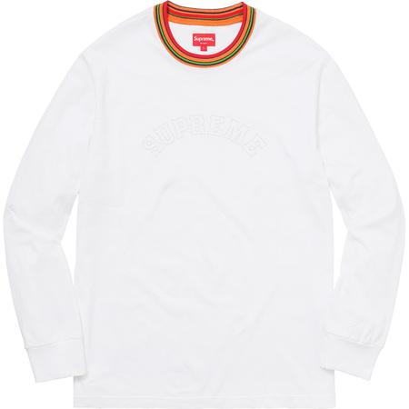 Multicolor Striped Rib L/S Top (White)