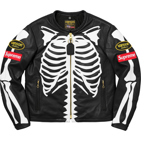Supreme®/Vanson® Leather Bones Jacket (Black)
