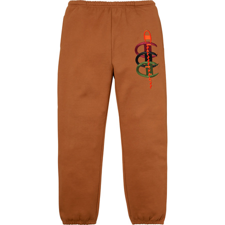 Supreme®/Champion® Stacked C Sweatpant (Brown)