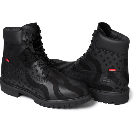 Supreme®/Timberland® Stars and Stripes 6-Inch Premium Waterproof Boot (Black)